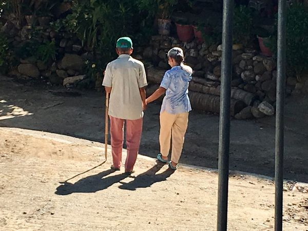 Couple from Abra Bolbolo going home after voting #forever Forever Shadow Full Length Sunlight Real People Men Nature People Togetherness Two People Adult