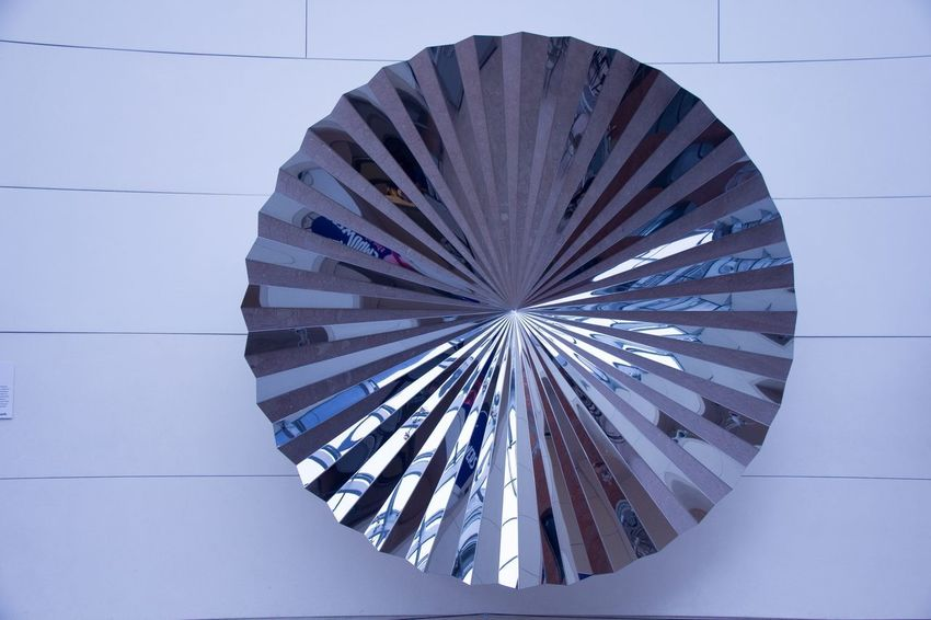 Sculpture In Metal Architecture Built Structure No People Low Angle View Indoors  Day Close-up