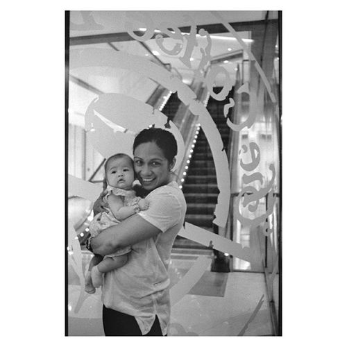 My niece Ally and TitaNinang @abioj | LeicaM4 35mm Fujifilm Neopan blackandwhite film developed last night