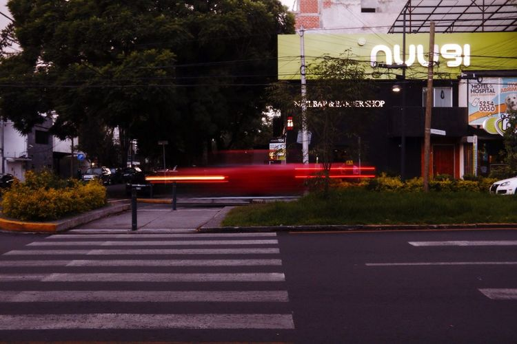 Fast Car Run Street City Luces