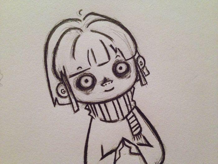 I'm back on Twitter! You can find me at www.twitter.com/frankendweeb. Thanks! Doodle Art Cartoon Work In Progress