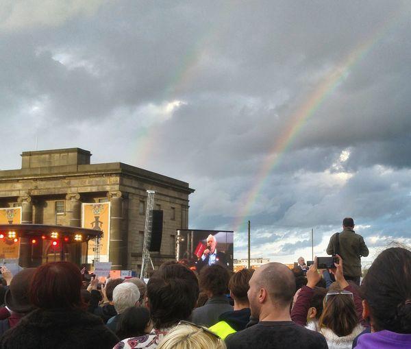 Jeremy Corbyn Birmingham UK Labour Party Election 2017 Rainbow