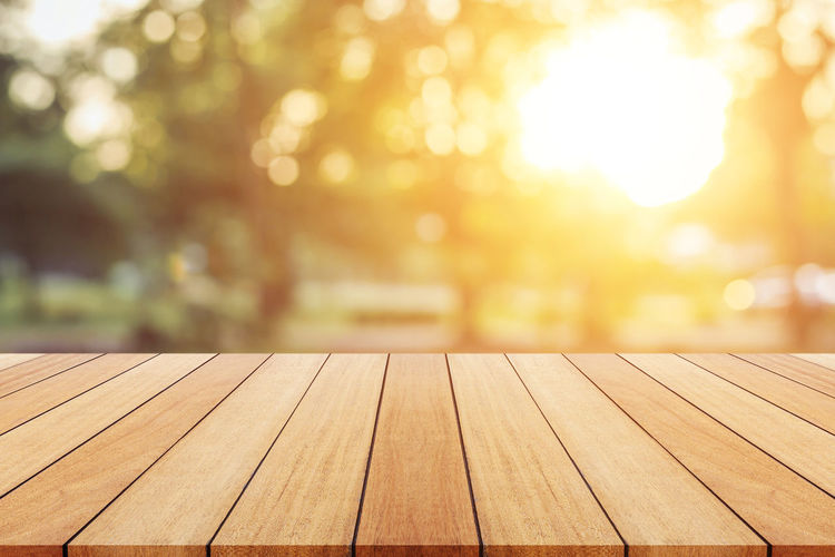 Close-up of bench in park against sky