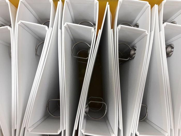 Full frame shot of folders