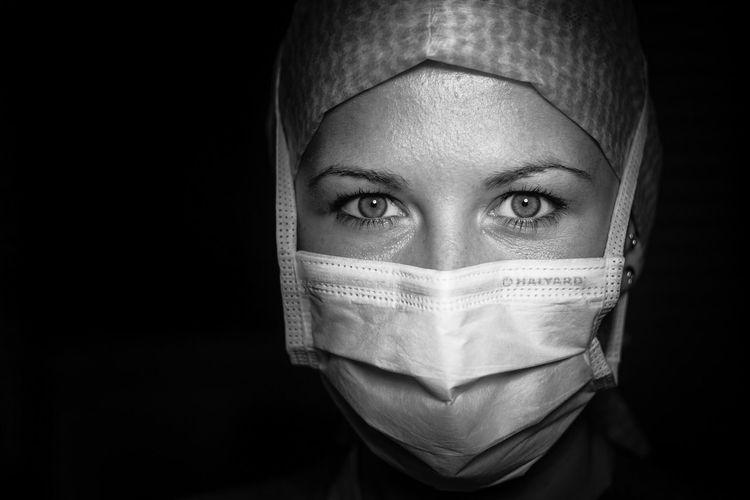 Behind the Mask Portrait Indoors  Nurse Hospital Surgery Surgeryroom Mask Sonya6000 First Eyeem Photo