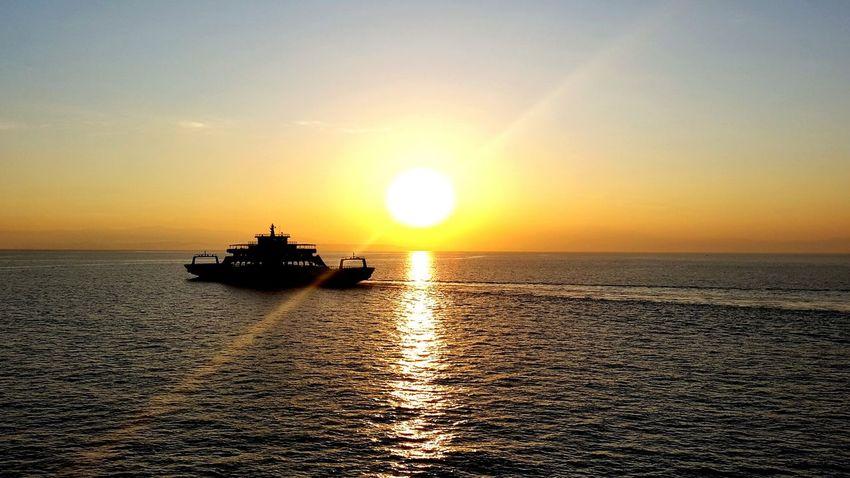 Dawn Boat Sea Sky Sun Costa Rica