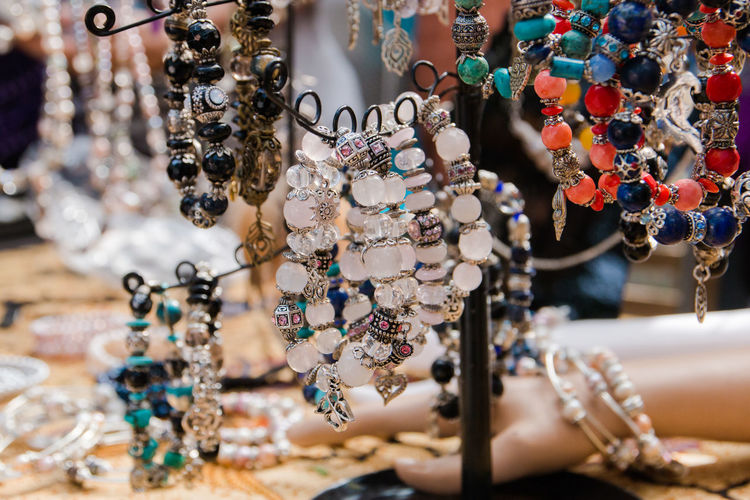 bracelets Abundance Choice Close-up Collection Consumerism Fashion For Sale Hanging Jewelry Jewelry Store Large Group Of Objects Luxury Market Necklace No People Ornate Pendant Personal Accessory Retail  Retail Display Sale Selective Focus Small Business Store Variation