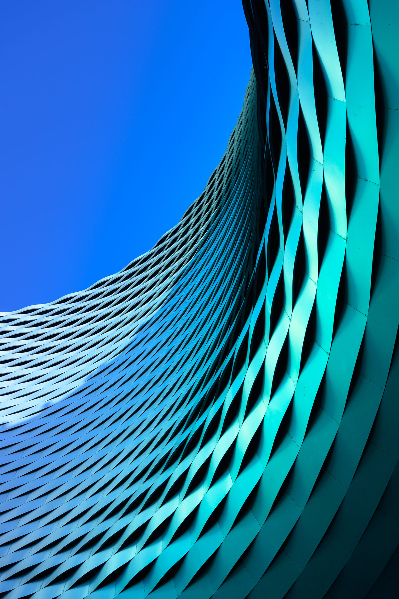 blue, sky, pattern, clear sky, low angle view