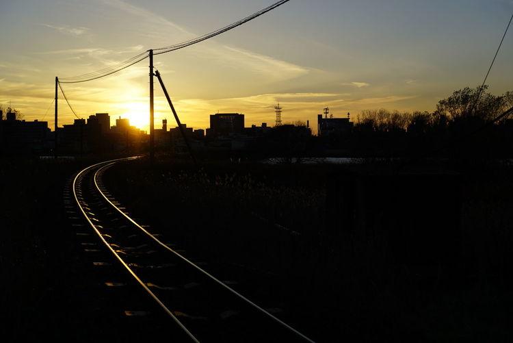 オレンジの鉄路 Sunset
