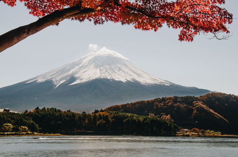 Panoramic view of mount fuji in japan