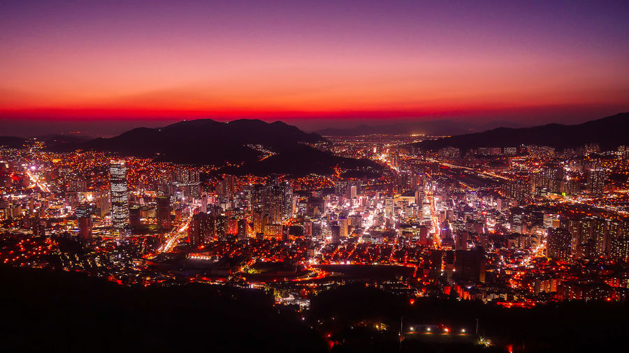 Aerial view of Busan, South Korea in night time. Busan Haeundae Busan,Korea Cityscape Gwangan Bridge Gwanganli Haeundae Beach Night Lights Night Photography Skyline South Korea TimesSquare Architecture Bridge Building Exterior Built Structure City Cityscape Gwangali Beach Haeundae Illuminated Night Night View Outdoors Sky Tower