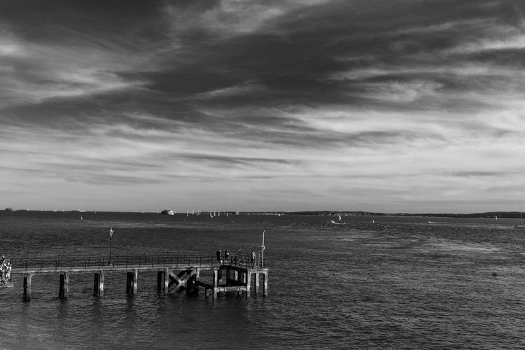 Sky Water Cloud - Sky Sea Nature Scenics - Nature Beauty In Nature Tranquil Scene Tranquility Land Day Beach Horizon Horizon Over Water Outdoors No People Architecture Waterfront Built Structure