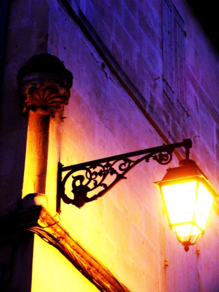 Architecture Built Structure Close-up Couleurs France Illuminated Lanterne Lighting Equipment Low Angle View Night No People Nuit Outdoors