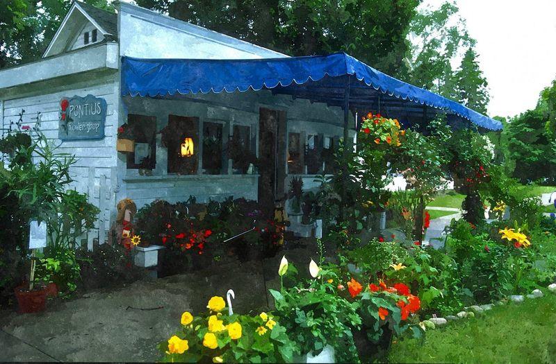 Flower Shop, Harbor Springs, Michigan, USA