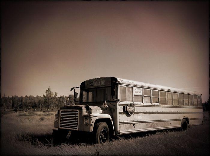School Bus Abandoned