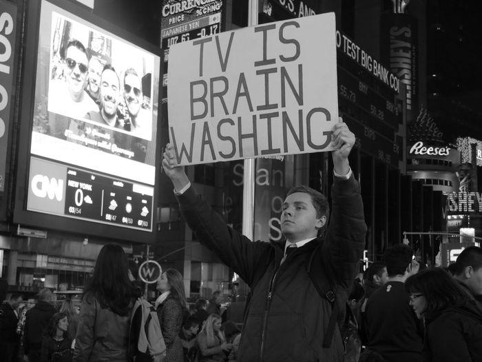 I agree !!! 🚫📺 EyeEm Best Shots - Black + White Streetphotography Monochrome NYC NYC Photography Manhattan Panasonic  Lumixgx7 Allysdms TimesSquare