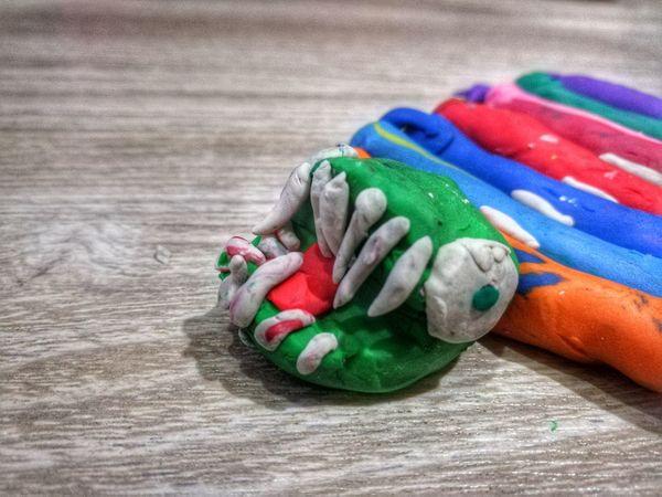 แฮร่...... Multi Colored My Son Boy Clay Art Clay Molding Clay ปั้นดินน้ำมัน Toy Child Huaweiphotography Imagination EyeEm Gallery Eyeemthailand