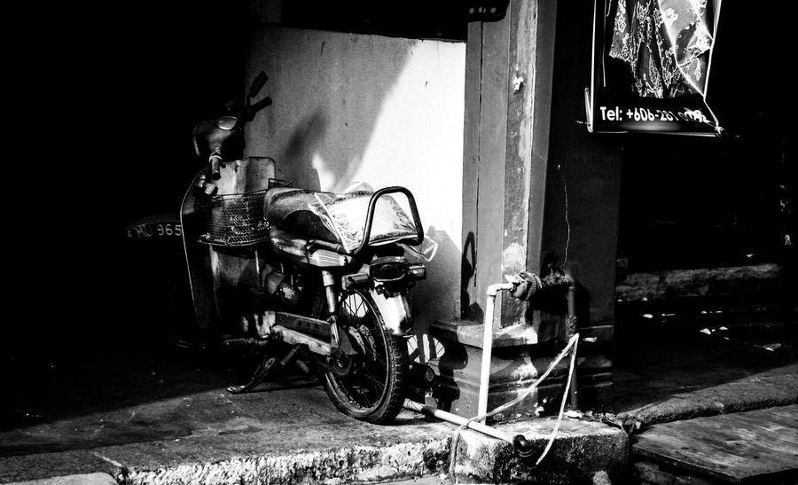 Bad Condition Breakdown Canon350D Damaged Decay Decaying Destruction Flat Tire Garage Humid Light Spots Motorcycle Obsolete Old Out Of Order Parked Parking Rotten Ruined Rusty Street Photography Streetphoto_bw Streetphotography Traveling In Malaysia Traveling Malaysia