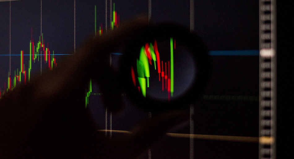 Stock chart Stock Chart Technology Close-up One Person Screen Indoors  Illuminated Motion Text Computer Equipment Computer Computer Monitor Western Script Arts Culture And Entertainment Device Screen Television Set Pattern Sport Security Projection