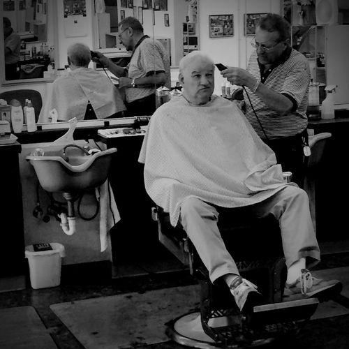 Shootermag EyeEm Best Shots Black And White B&W Portrait Portrait Barbershop Eye4black&white  EyeEm Best Shots - People + Portrait The Portraitist - 2014 EyeEm Awards EyeEmBestPics