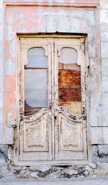 Remains of the past Architecture Built Structure Bad Condition Wood - Material No People Outdoors Damaged Armenia Gyumri Old Buildings Door