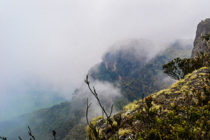 Extreme Terrain Fog Geology Heat Landscape Mountain Non-urban Scene Outdoors Physical Geography Power In Nature Remote Rough Scenics
