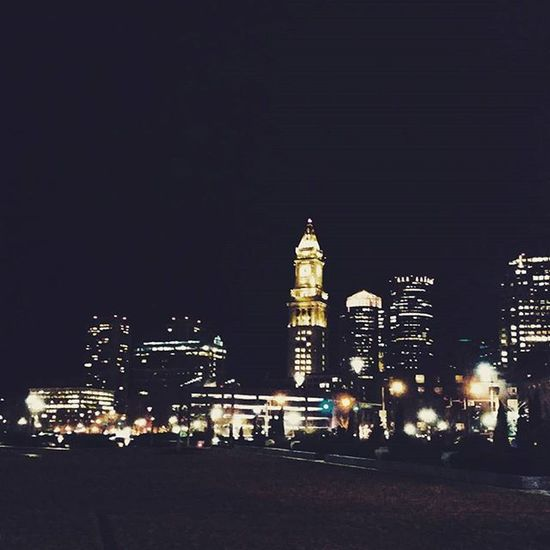 Memories: Time. Place. People. Latergram Memories Boston Greenway Downtown Cityscape Night Lights Igersboston Instacity Instapretty VSCO Vscocam