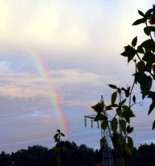 Rainbow🌈 View From The Window... Sky_collection Rainbow Sky Light Up Your Life Colour Of Life For My Friends On Eyeem Rainbow At Cloudy Sky Enjoying Life Naturelovers Simple Beauty Beauty In Nature Beautiful Scenery