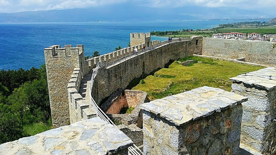 Fortress,lake,Ohrid Macedonia Macedonian Beauty Fortress Fortress Walls Fortress Of Stone Fortress View Fortress Towers Lake Lake Ohrid Lake View Lakeside Lake And Mountain And Sky Lakeshore Fortress In Europe Outdoor Photography Historical Place Fortress Europe Landscape Ohrid Republic Of Macedonia Day Outdoors No People Horizon Over Water Beauty In Nature Sky