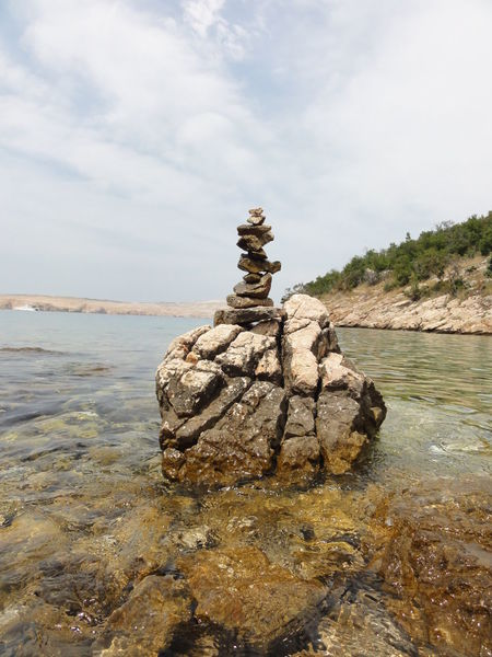 Beauty In Nature Cloud Cloud - Sky Day Idyllic Meer Nature No Filter No People Outdoors Rock Rock - Object Rock Formation Sky Steine Tower Turm Wasser Water