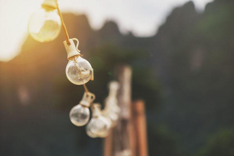 Hanging incandescent outdoor