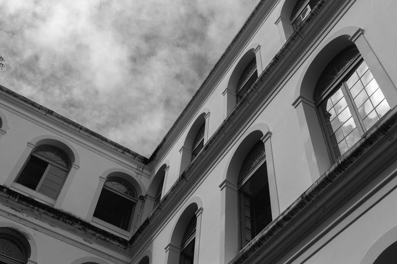 Imip Recife Brasil Blackandwhite Architecture Architecture Low Angle View Built Structure Building Exterior Window Government Outdoors Day No People Sky Politics And Government First Eyeem Photo