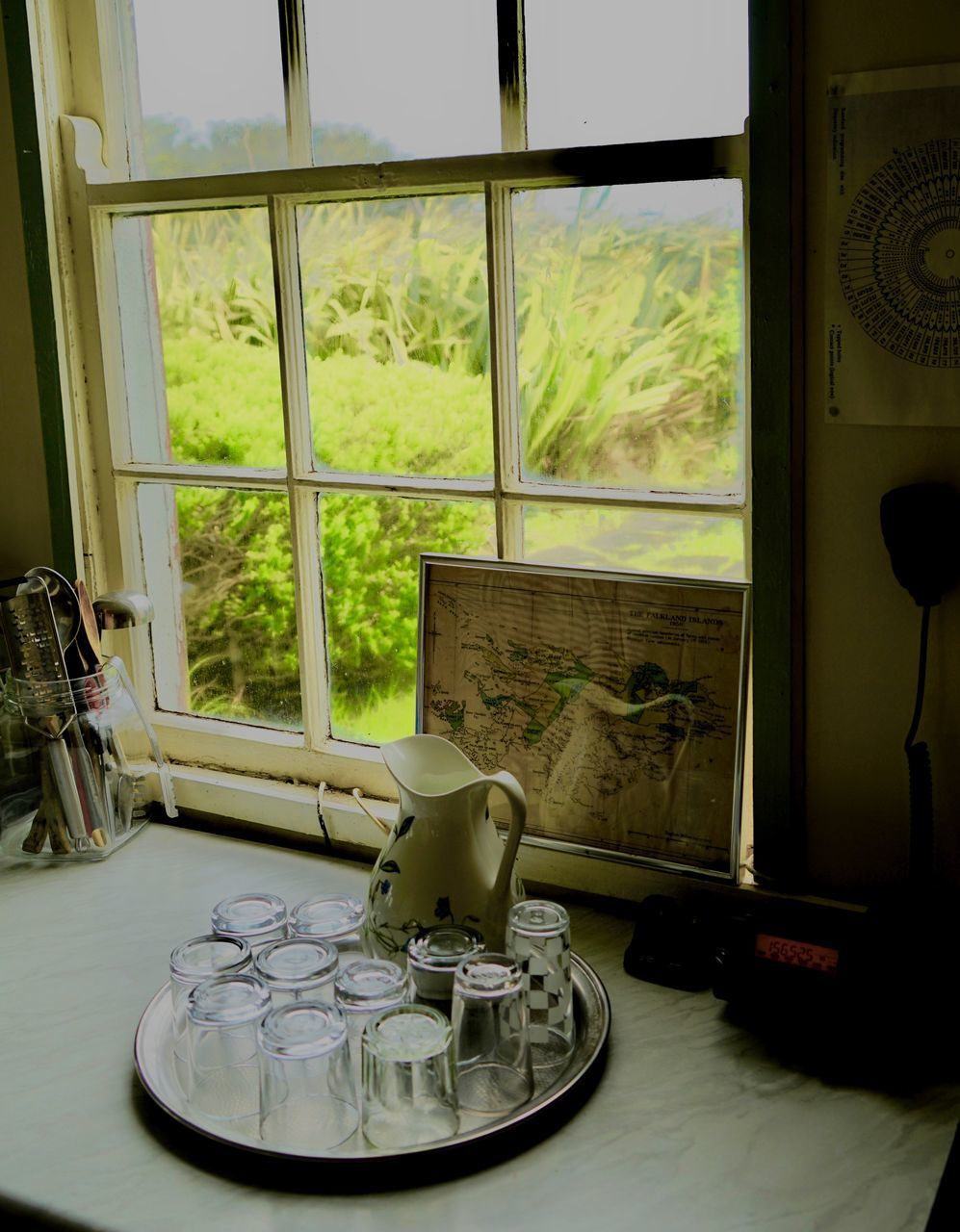VIEW OF TABLE THROUGH WINDOW