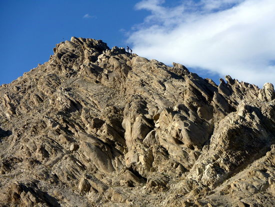 Two people climbing to the top of the rough mountain, near Shey Palace, Leh area, Ladakh Clear Sky Climb EyeEm Best Shots EyeEm Nature Lover Hard Rock Formation Beauty In Nature Boulders, Rocks, Stones Day Geological Landscape Geology Jagged Ladakh Lovers Low Angle View Men Mountain Mountain Peak Mountains And Sky Nature Outdoors Scenics Sky Stiff Tectonic Two People