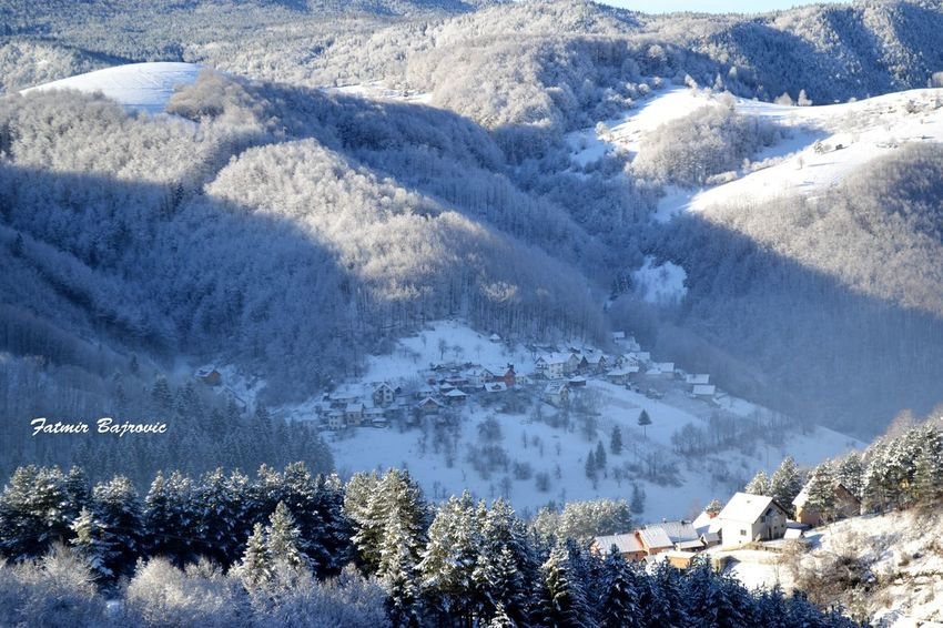 Winter idyll Architecture Beauty In Nature Building Exterior Built Structure Cold Temperature Covering High Angle View House Landscape Mountain Mountain Range Nature Nova Varos Scenics Season  Serbia Snow Tranquil Scene Tranquility Tree Weather Winter
