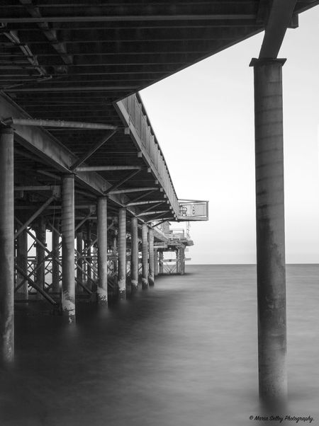 Architectural Column Architecture Building Exterior Built Structure Day In A Row No People Pier Pier Scenics Sea Seascape Shore Sky Slow Shutter Speed Tall - High Teignmouth Underneath Water