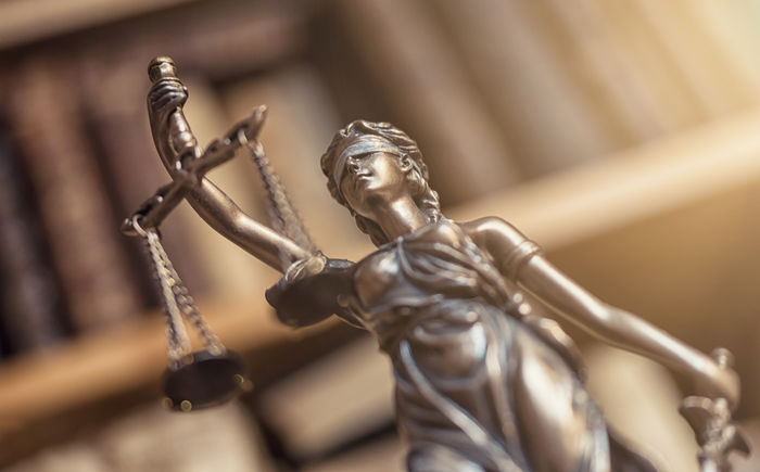 The Statue of Justice - lady justice Blind Bronze Crime Innocence Jury Justitia Lady Justice Lawyer Library Balance Book Courthouse Courtroom Criminal Decision Equality Gavel Judicial Law Legal Legislation Literature No People Sculpture Statue
