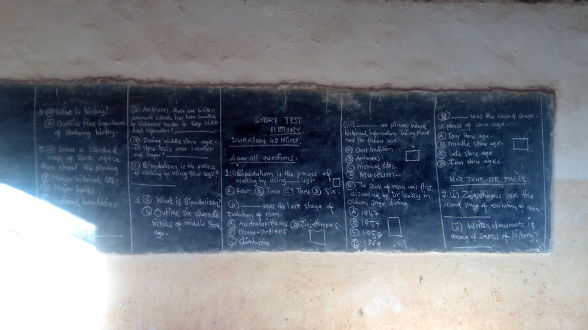 Blackboard School No People Day Indoors  Close-up History Lesson Korogwe-tanzania history test, short test