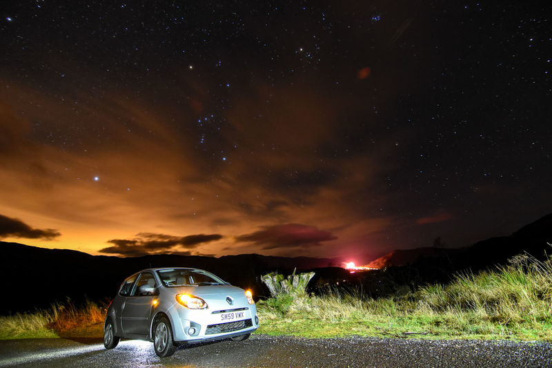 Scotland Killin  Benlawers TWINGO NewYear Starry Sky Renault Loch Tay Orions Belt Starscape Astrophotography Constellation Astronomy Tokina 11-16 Mm F/2,8 Outdoors Low Angle View Star - Space Space Cloud - Sky Landscape