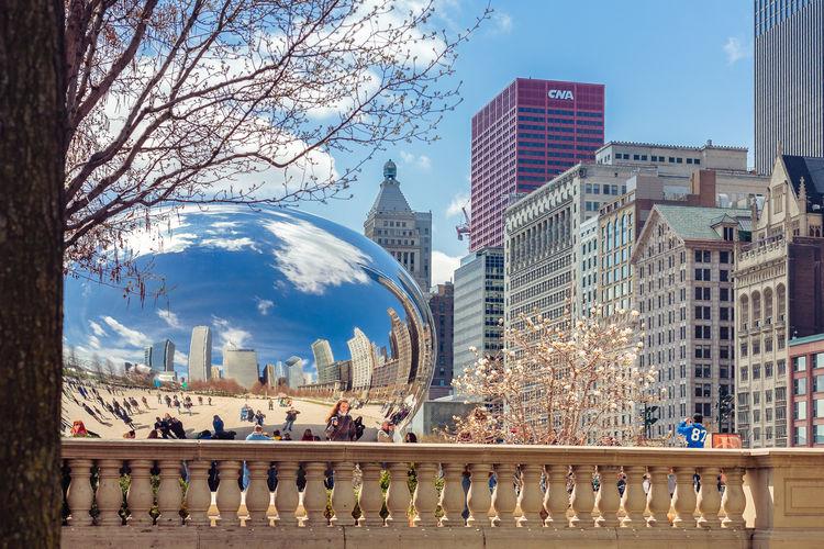 April Architecture City Cityscape Cloud Gate Cloud Gate Chicago Famous Place International Landmark Millenium Park Spring Urban Spring Fever The Architect - 2016 EyeEm Awards