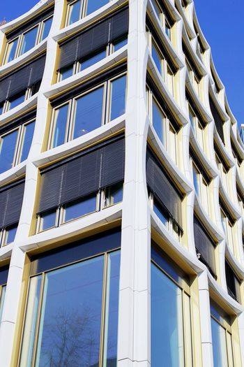 Architecture Building Building Exterior Built Structure City Clear Sky Day Full Frame Glass - Material Low Angle View Modern No People Office Building Exterior Outdoors Pattern Repetition Residential District Sky Window
