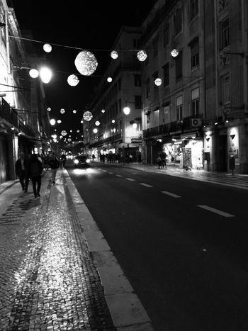 Lisboa... Street Night Building Exterior City Illuminated Architecture Walking City Life Ambiance Lisbon Night Lights Nightphotography