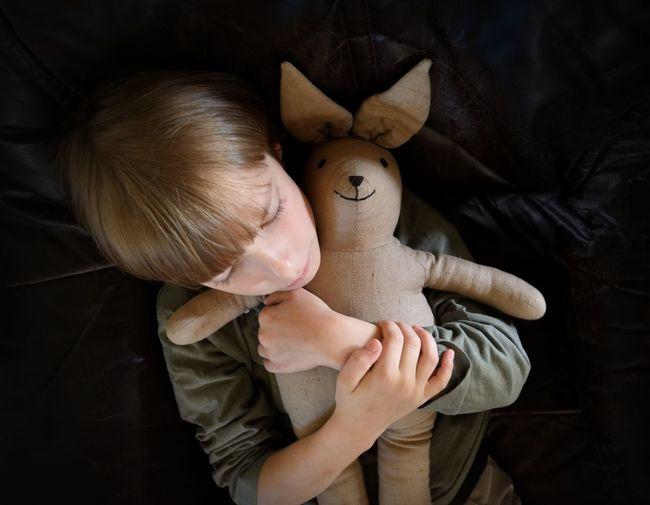 Cute Hug Toy Calmness Safety Love Care Friendship Childhood Child Human Hand Black Background Bonding The Portraitist - 2018 EyeEm Awards