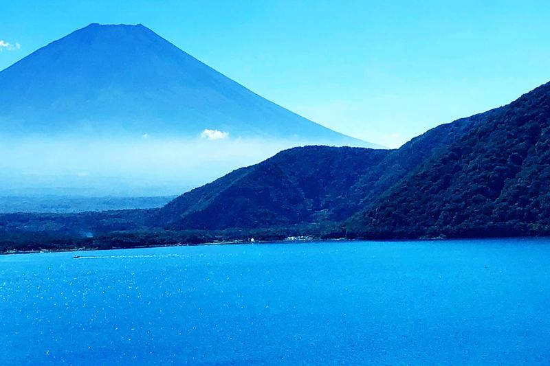 Blue Water Sky Mountain Scenics - Nature Beauty In Nature Tranquil Scene Day Nature No People Clear Sky Outdoors Mountain Range Non-urban Scene Waterfront