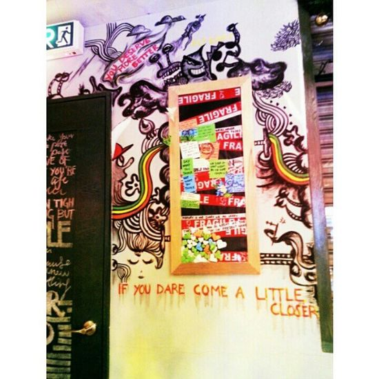 A life without colour, a blank wall is a sad wall. MyArt Wallpaint Illustration Irenecreature irenesart illustrationstyle illustrationart colourful life behold imagination idea creativityartwork handmade handcraft