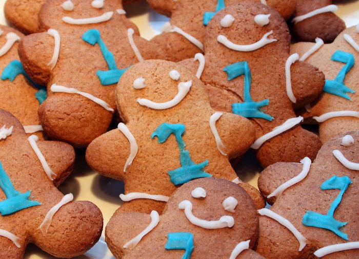 Full frame shot of gingerbread man