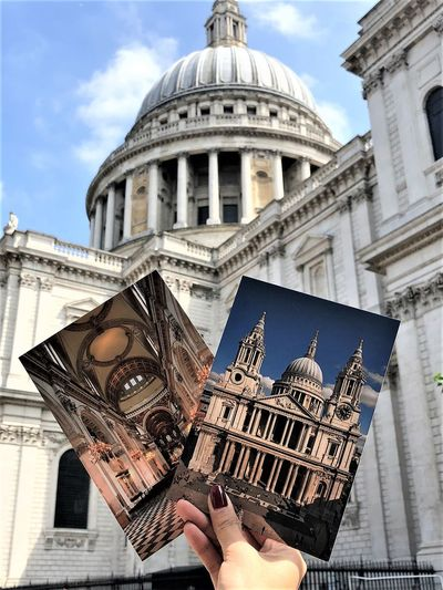 Cathedral, United Kingdom British Cathedral Postcard Architecture Building Building Exterior Built Structure Dome England One Person StPaulscathedral Tourism Travel