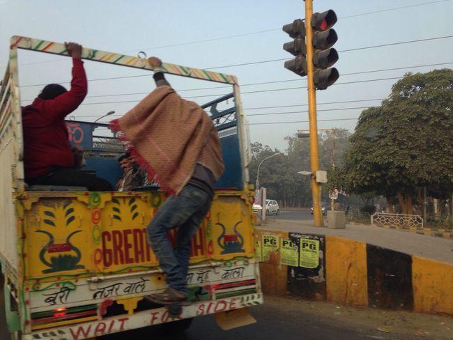 India Greatindia Traffic Jam Gurgaon