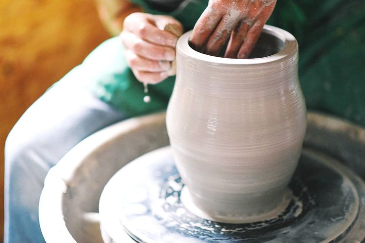 Human Hand People Lifestyles Close-up Real People Pottery Potter First Eyeem Photo
