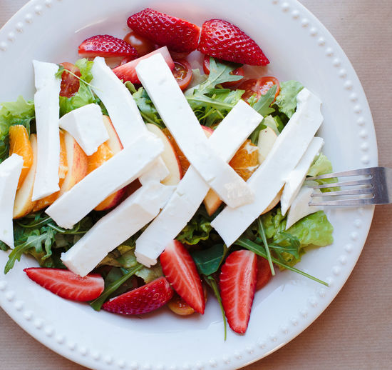 sweet beaty Salad Cheese Close-up Day Food Food And Drink Freshness Healthy Eating Healthy Food High Angle View Indoors  No People Plate Ready-to-eat Strawberry